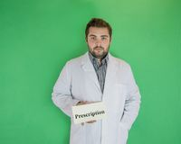 Doctor giving prescription Royalty Free Stock Photos