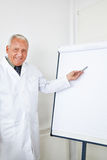 Doctor giving presentation with flipboard Royalty Free Stock Photography