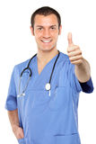 Doctor giving thumbs up Stock Images