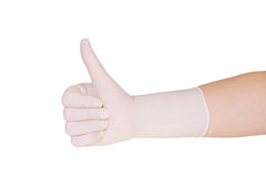 Doctor giving thumbs up sign Stock Photo