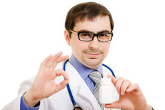 Doctor in glasses Stock Photography
