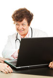 Doctor with Good News Stock Photo