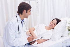 Doctor got good news for his patient Stock Photo