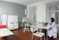 Doctor at gynecologist's office Royalty Free Stock Image