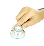 Doctor hand with stethoscope Royalty Free Stock Photo
