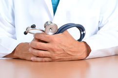 Doctor Hands with Stethoscope Royalty Free Stock Images