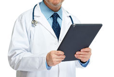 Doctor hands with tablet computer Royalty Free Stock Photography
