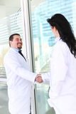 Doctor Handshake at Hospital Stock Images