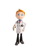 Doctor with handshake pose Royalty Free Stock Photos