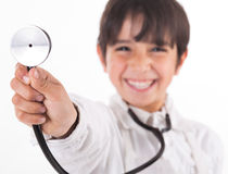 doctor hans små visande stetoskop Royaltyfri Foto