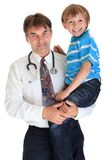 Doctor with happy boy Royalty Free Stock Image
