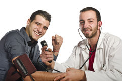 The doctor is happy Royalty Free Stock Image