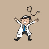Doctor happy Royalty Free Stock Photography