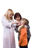 Doctor have a medical examination girl Stock Photo