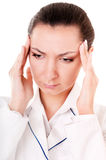 Doctor with headache Stock Images