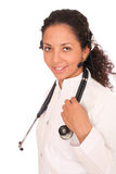 Doctor in headset Royalty Free Stock Photography