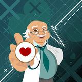 Doctor with health symbol Royalty Free Stock Photos