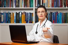 Doctor healthcare costs money payment Royalty Free Stock Images