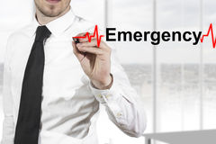 Doctor hearbeat line emergency Royalty Free Stock Images