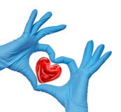 Doctor with heart Stock Image