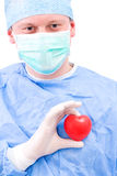 Doctor with heart Stock Photo