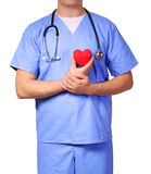 Doctor with heart expressing care, isolated Stock Photos