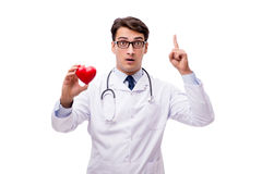 The doctor with heart isolated on white background Stock Images