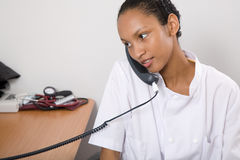 Doctor in her office Royalty Free Stock Photography