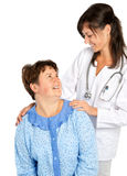 Doctor and her patient smiling Royalty Free Stock Image