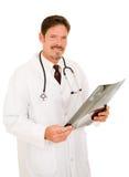 Doctor hermoso con la radiografía Imágenes de archivo libres de regalías