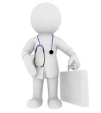 Doctor. High Class rendered figure for perfect message transportation Royalty Free Stock Photo