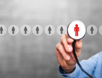 Doctor hiring personnel stock photography