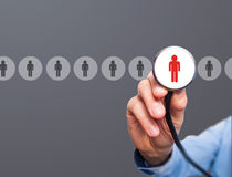Doctor hiring personnel royalty free stock images