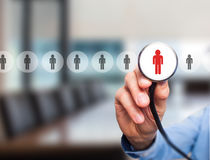 Doctor hiring personnel royalty free stock photography
