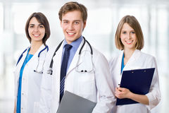 Doctor with his colleagues Royalty Free Stock Photo