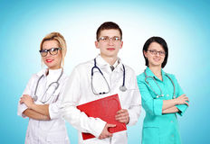 Doctor with his colleagues Stock Photos