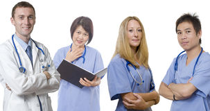 Doctor and his medical team Stock Photography