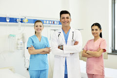 Doctor with his team Stock Photo