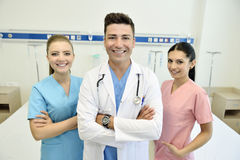 Doctor with his team Stock Image