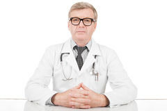Doctor at his working desk Royalty Free Stock Image