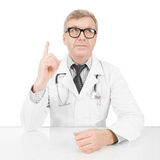 Doctor at his working desk - 1 to 1 ratio image Royalty Free Stock Photo