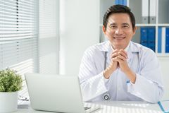 Doctor at his workplace Royalty Free Stock Images