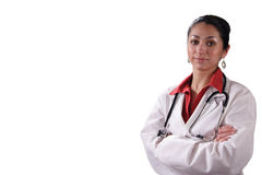 Doctor hispánico de la mujer Foto de archivo