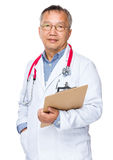Doctor hold with clipboard stock photos