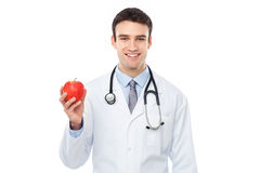 Doctor holding an apple Stock Image