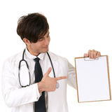 Doctor holding blank board Royalty Free Stock Photos