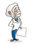 Doctor holding a blank paper Royalty Free Stock Image