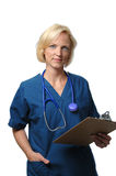 Doctor holding clip board Royalty Free Stock Photography