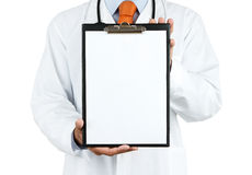 Doctor holding clipboard Stock Image