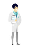 Doctor holding clipboard with documents. Stock Photography